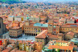 Piazza Maggiore - vista aerea