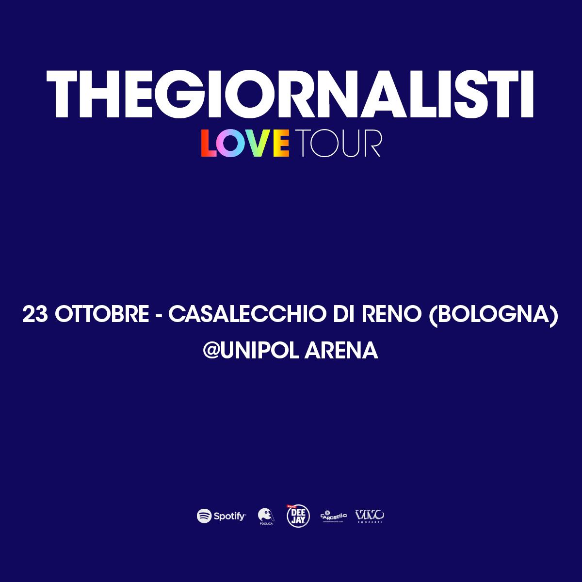 Thegiornalisti-Unipol Arena Bologna